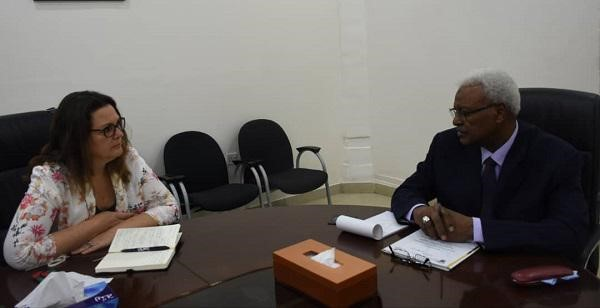 Attorney General Meets Head of Technical Delegation of Human Rights Commission
