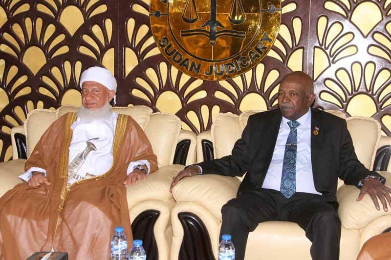 Chief Justice receives Head of Omani Supreme Court
