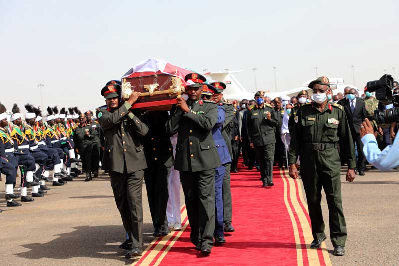 Funeral Held for Late Minister of Defence at Farouq Cemetery