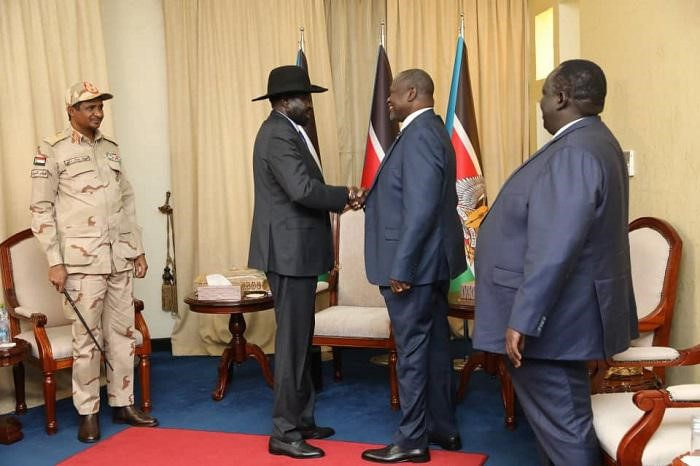 Salva Kiir Daglo and Machar hold Meeting in Juba